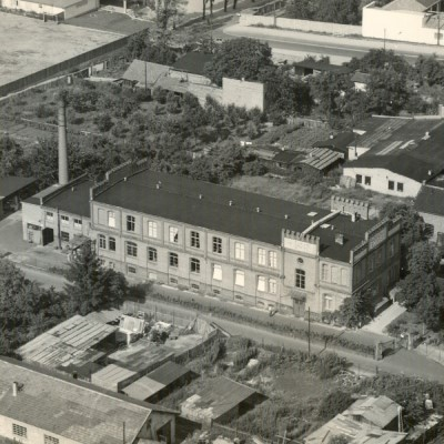 Bird's eye view of the company building in the Dotzheimer Straße