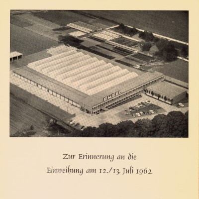 Bird's eye view of the company building in Schierstein